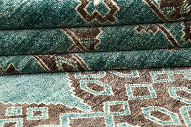 Dark Sea Green Gabbeh 8' 2 x 9' 10 - No. 63583 - ALRUG Rug Store