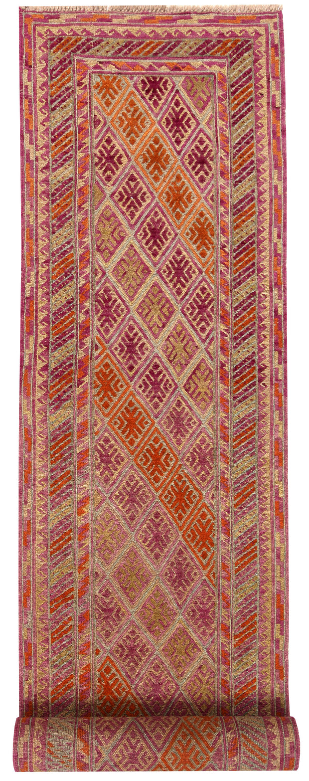 Multi Colored Mashwani 2' 4 x 12' 9 - No. 63598 - ALRUG Rug Store