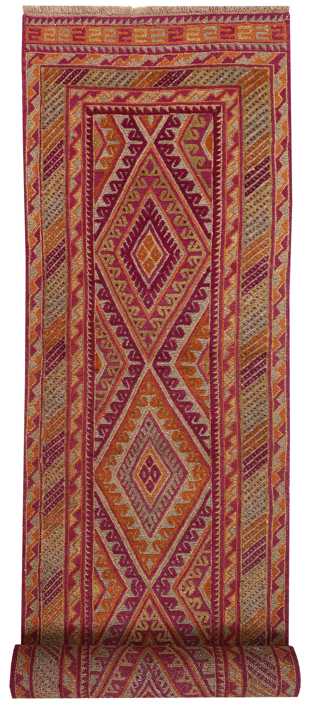 Multi Colored Mashwani 2' 6 x 12' 2 - No. 63602 - ALRUG Rug Store