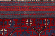 Dark Red Mashwani 2' 6 x 11' 7 - No. 63618 - ALRUG Rug Store