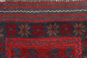 Dark Red Mashwani 2' 2 x 7' 10 - No. 63642 - ALRUG Rug Store
