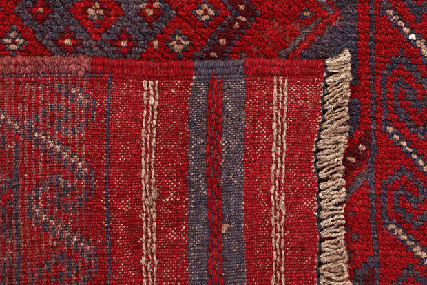Dark Red Mashwani 2' x 7' 11 - No. 63660 - ALRUG Rug Store