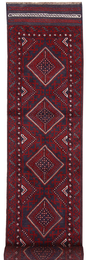 Dark Red Mashwani 1' 10 x 8' 2 - No. 63667 - ALRUG Rug Store
