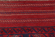 Dark Red Mashwani 2' x 8' 1 - No. 63673 - ALRUG Rug Store