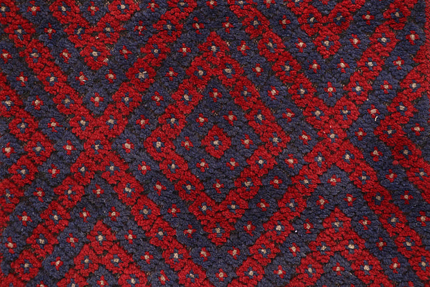 Dark Red Mashwani 2' 5 x 6' 11 - No. 63720 - ALRUG Rug Store