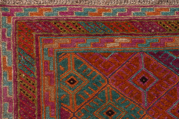 Multi Colored Mashwani 2' 9 x 12' 8 - No. 63742 - ALRUG Rug Store