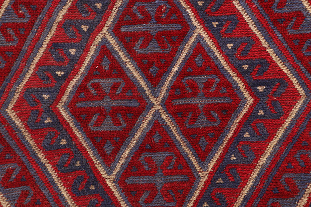 Dark Red Mashwani 3' 9 x 4' - No. 63765 - ALRUG Rug Store
