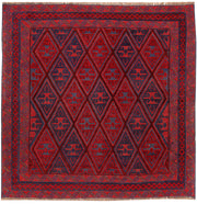 Dark Red Mashwani 3' 11 x 4' 1 - No. 63772 - ALRUG Rug Store
