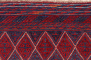 Dark Red Mashwani 3' 10 x 4' 3 - No. 63778 - ALRUG Rug Store