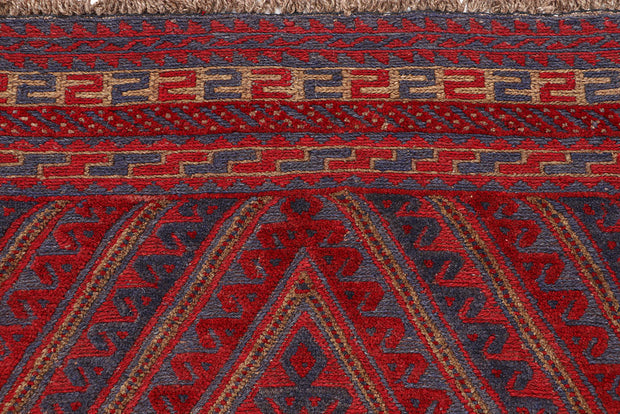 Dark Red Mashwani 3' 11 x 4' 4 - No. 63783 - ALRUG Rug Store