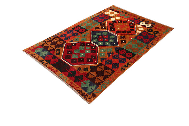 Dark Orange Baluchi 3' 10 x 5' 7 - No. 64063 - ALRUG Rug Store