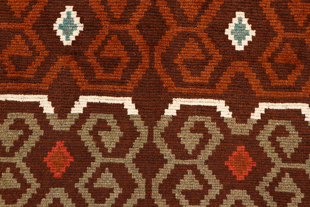 Saddle Brown Baluchi 4' 1 x 5' 11 - No. 64096 - ALRUG Rug Store