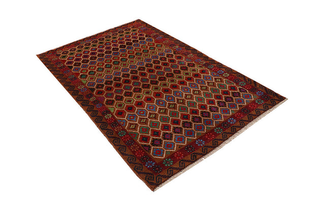Multi Colored Baluchi 4' 2 x 6' 6 - No. 64113 - ALRUG Rug Store