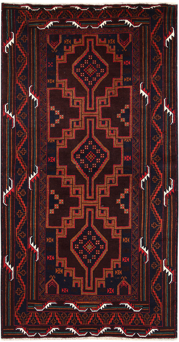 Multi Colored Baluchi 3' 7 x 6' 7 - No. 64231 - ALRUG Rug Store
