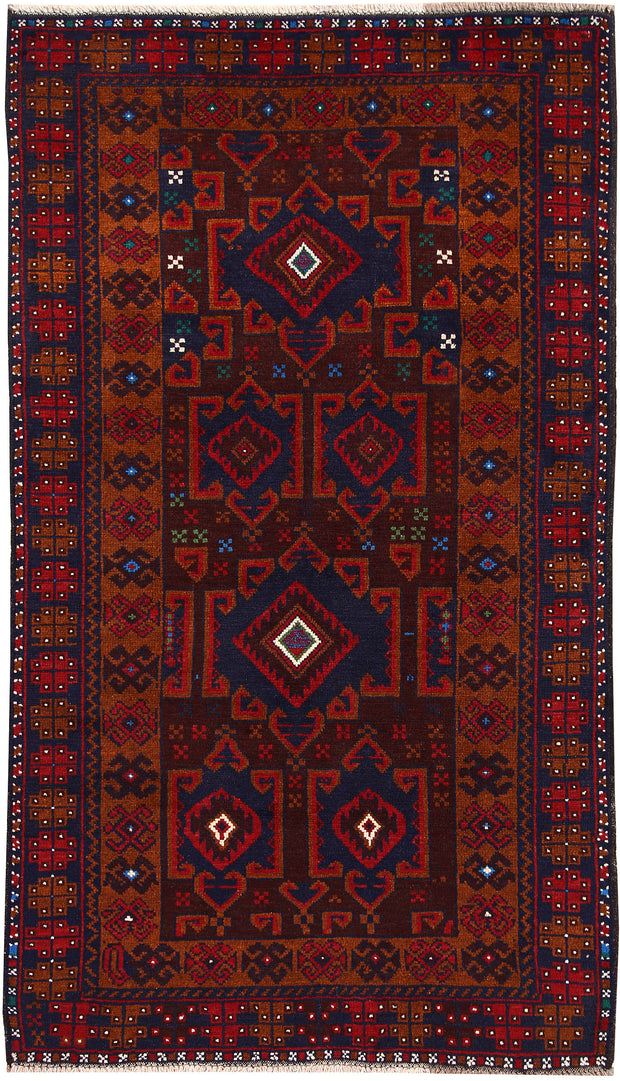 Multi Colored Baluchi 3' 4 x 5' 10 - No. 64249