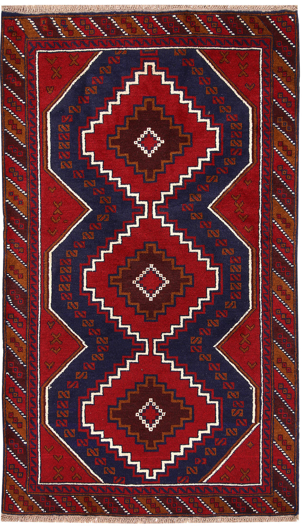 Multi Colored Baluchi 3' 6 x 6' 1 - No. 64250