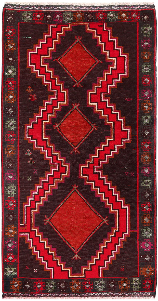 Saddle Brown Baluchi 3' 5 x 6' 2 - No. 64261 - ALRUG Rug Store