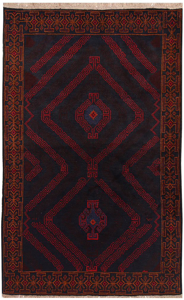 Multi Colored Baluchi 3' 10 x 6' - No. 64263