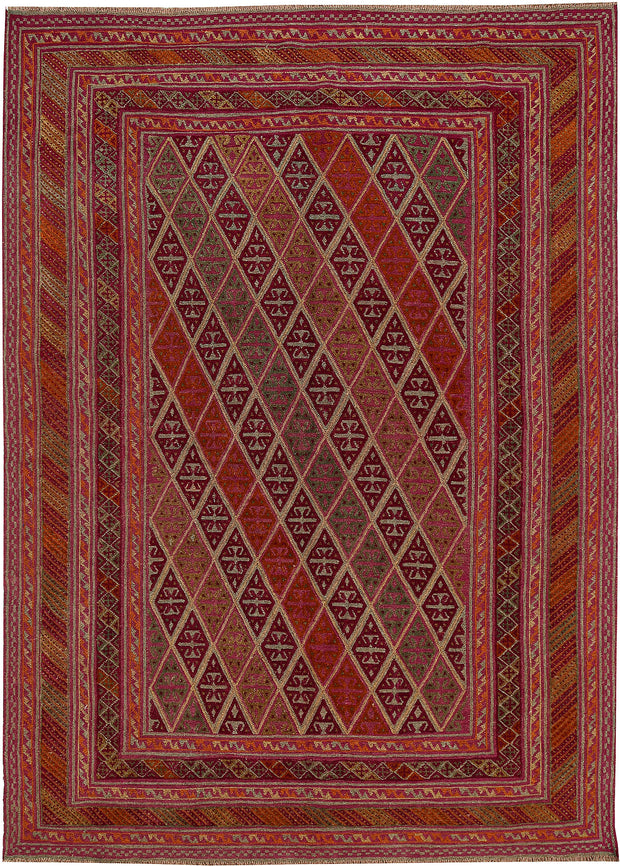 Multi Colored Mashwani 6' 9 x 9' 2 - No. 64265 - ALRUG Rug Store