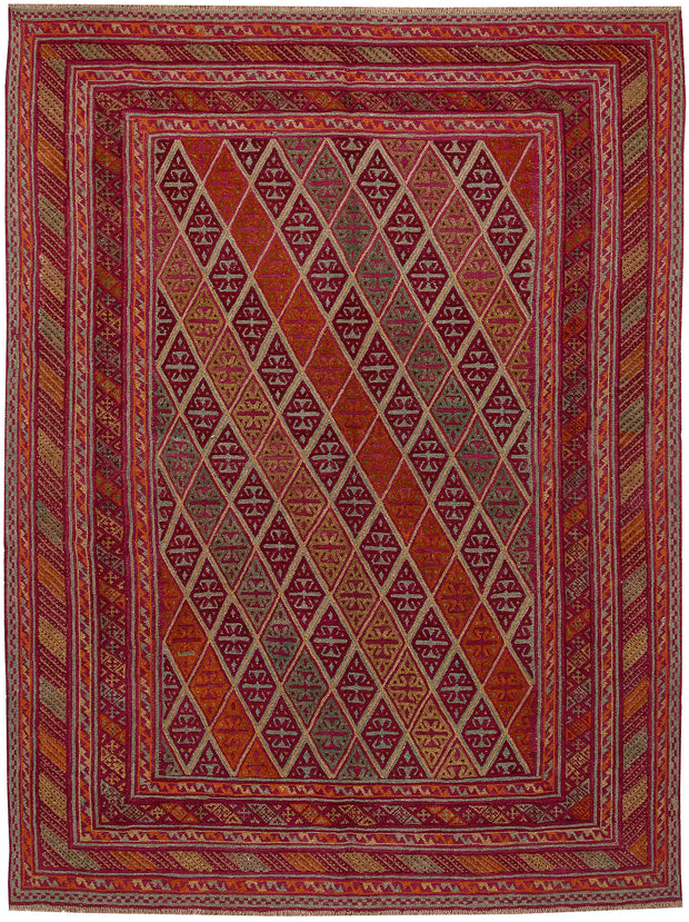 Multi Colored Mashwani 6' 10 x 9' - No. 64266