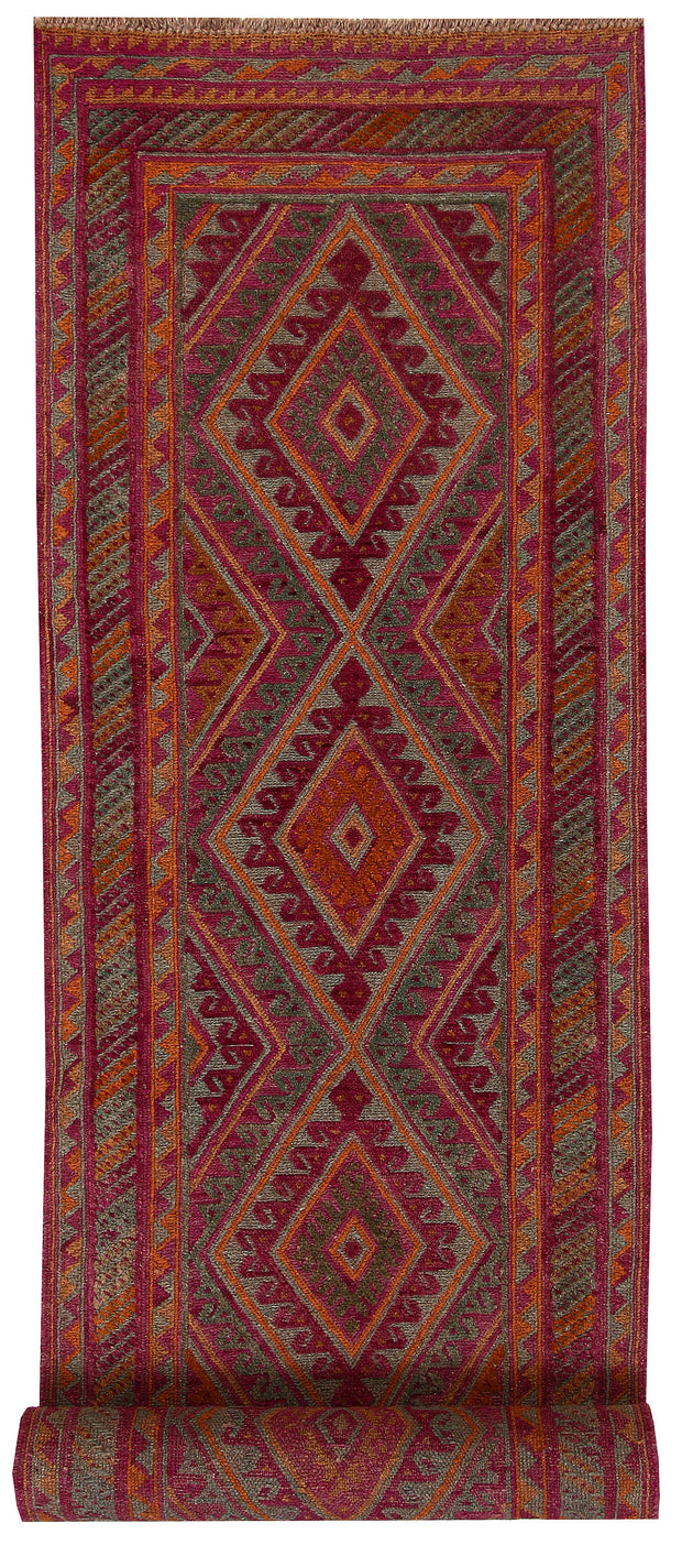 Multi Colored Mashwani 2' 7 x 11' 10 - No. 64275 - ALRUG Rug Store