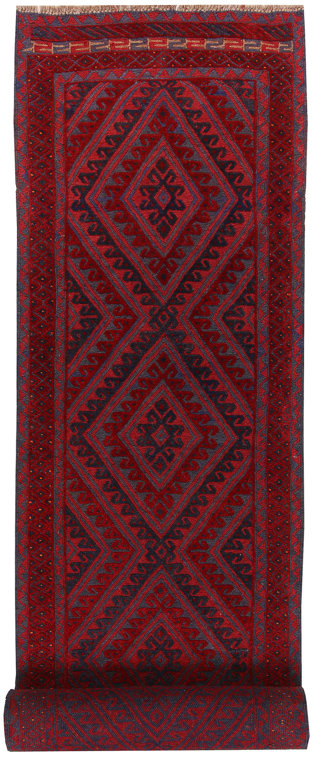 Dark Red Mashwani 2' 9 x 13' 1 - No. 64276