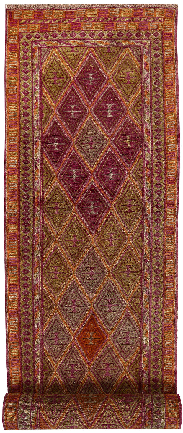 Multi Colored Mashwani 2' 6 x 12' 2 - No. 64284