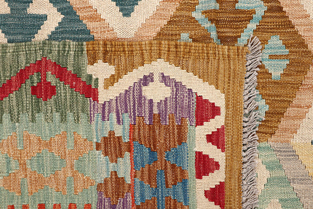 Multi Colored Kilim 6' 10 x 9' 6 - No. 64441 - ALRUG Rug Store