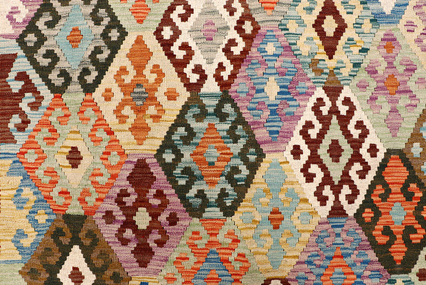 Multi Colored Kilim 6' 8 x 8' - No. 64444 - ALRUG Rug Store