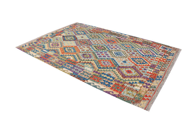 Multi Colored Kilim 6' 9 x 9' 9 - No. 64446 - Alrug Rug Store