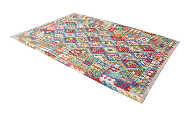 Multi Colored Kilim 6' 11 x 9' 9 - No. 64456 - Alrug Rug Store