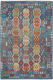 Multi Colored Kilim 6' 7 x 9' 9 - No. 64474 - ALRUG Rug Store