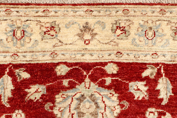 Dark Red Oushak 3' x 9' 6 - No. 65259 - ALRUG Rug Store