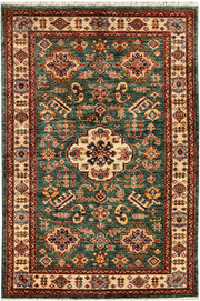 Green Kazak 3' 4 x 4' 11 - No. 65822