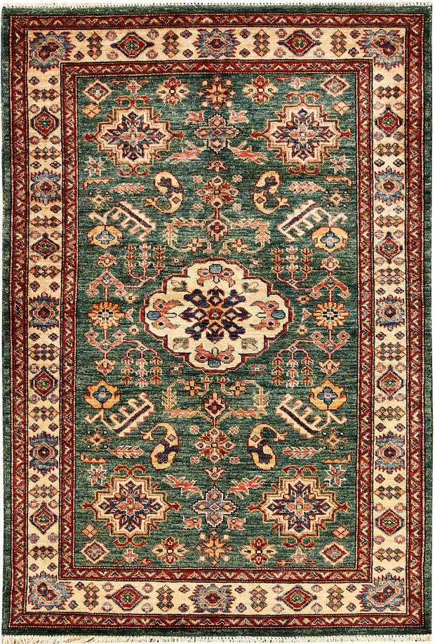 Green Kazak 3' 5 x 5' - No. 65823