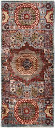 Light Slate Grey Mamluk 1' 11 x 4' 9 - No. 65962 - ALRUG Rug Store