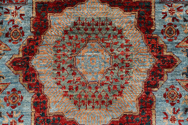 Light Blue Mamluk 2' x 5' 2 - No. 65966 - ALRUG Rug Store