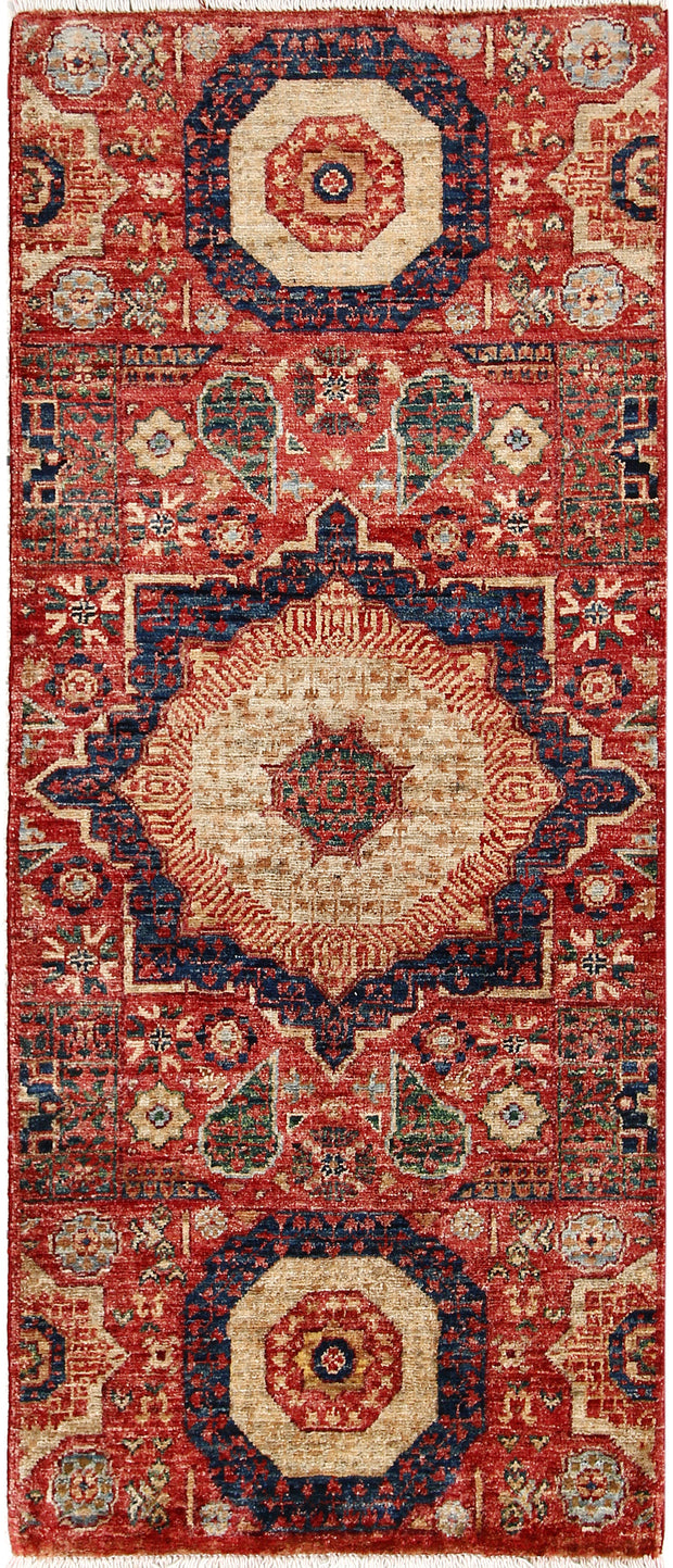 Indian Red Mamluk 2' x 4' 9 - No. 65970 - ALRUG Rug Store