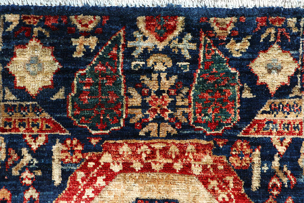 Midnight Blue Mamluk 2' x 4' 8 - No. 65974 - ALRUG Rug Store