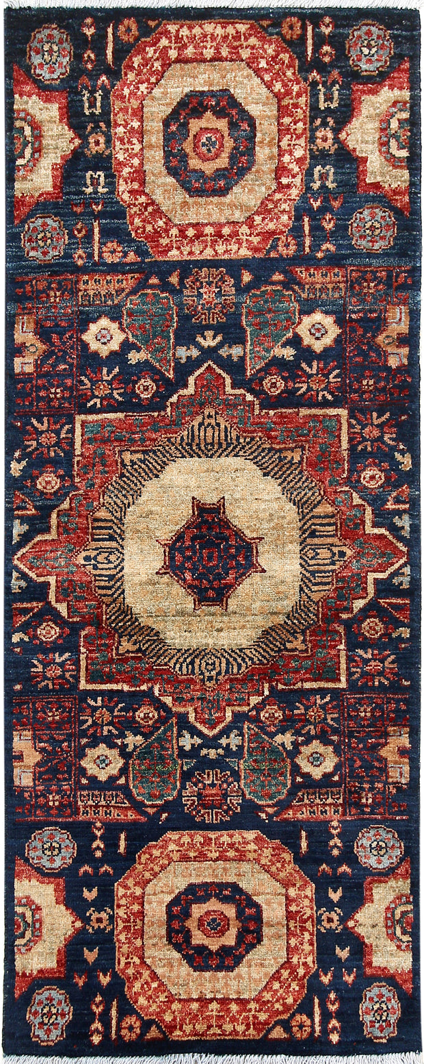 Midnight Blue Mamluk 1' 11 x 4' 10 - No. 66002 - ALRUG Rug Store
