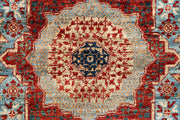 Light Slate Grey Mamluk 2' x 4' 10 - No. 66007 - Alrug Rug Store