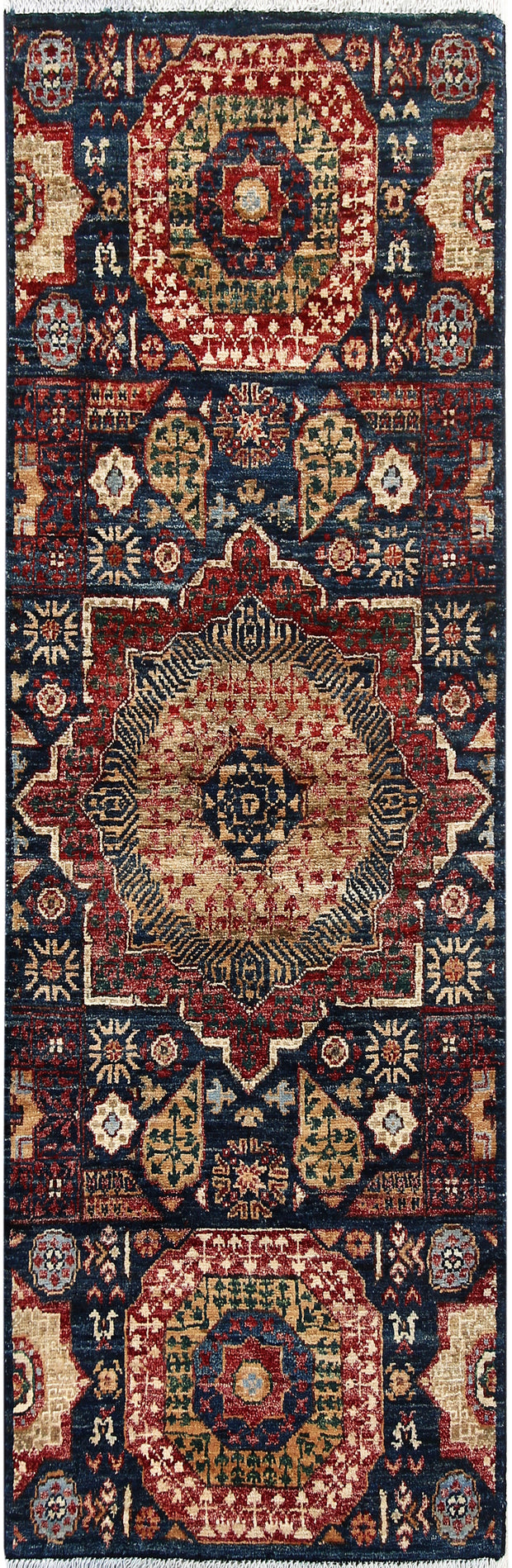 Midnight Blue Mamluk 1' 11 x 4' 9 - No. 66009 - ALRUG Rug Store