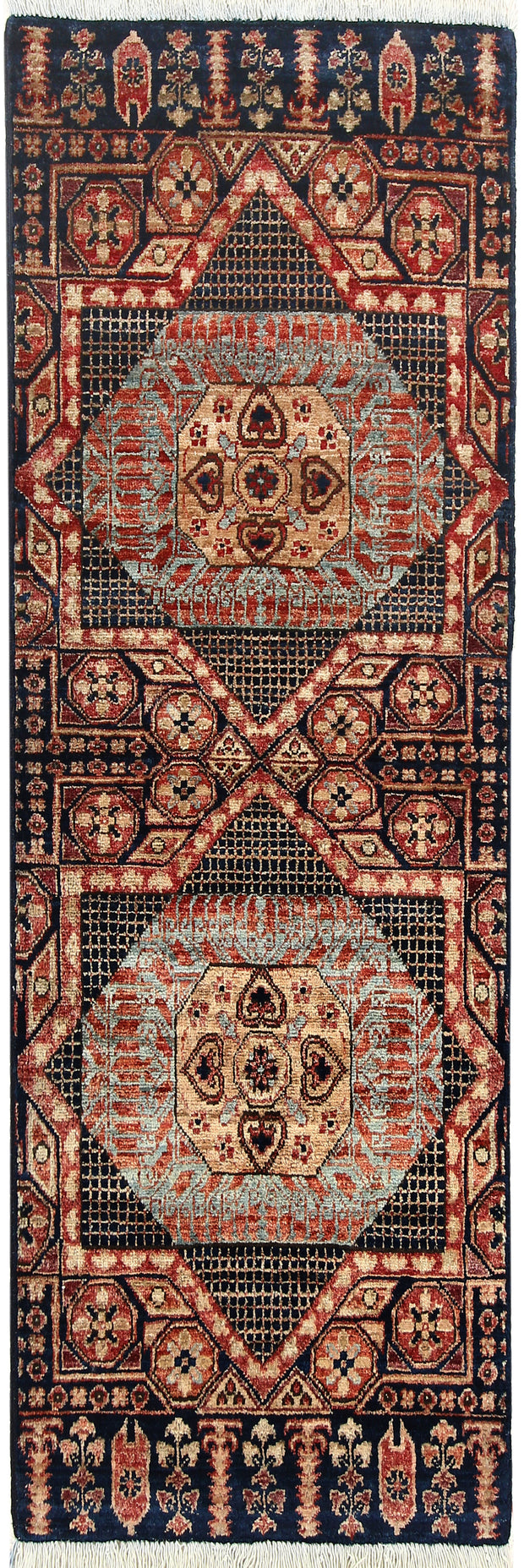 Midnight Blue Mamluk 2' x 4' 9 - No. 66055 - ALRUG Rug Store