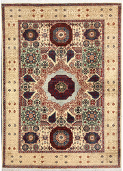 Blanched Almond Mamluk 4' 11 x 6' 8 - No. 66091 - ALRUG Rug Store