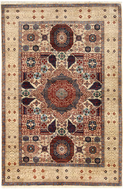 Blanched Almond Mamluk 4' x 6' 2 - No. 66186 - ALRUG Rug Store