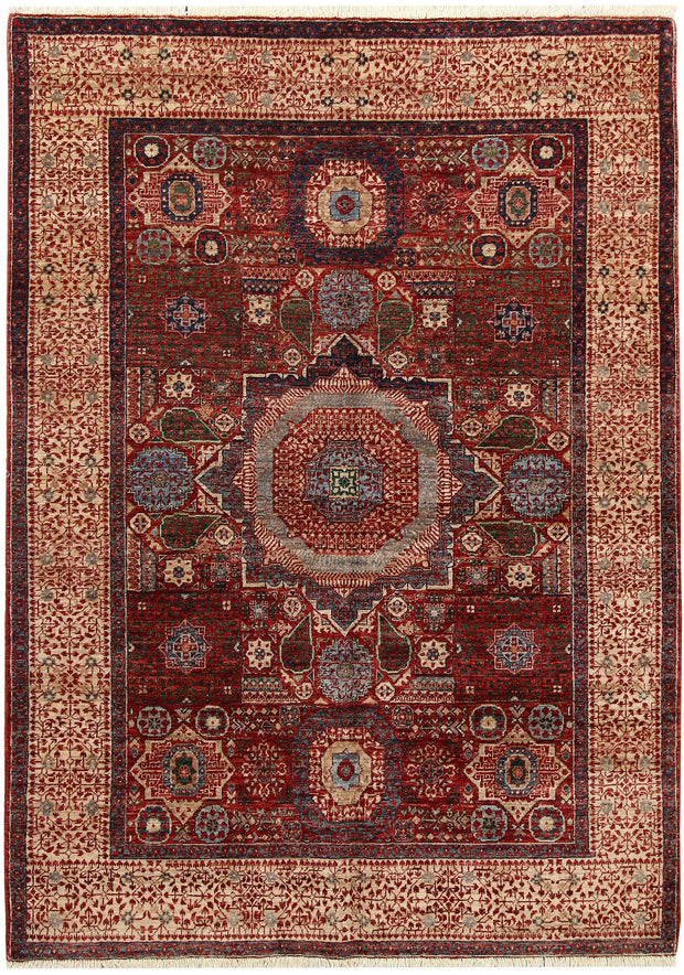 Dark Red Mamluk 4' 9 x 6' 9 - No. 66194 - ALRUG Rug Store
