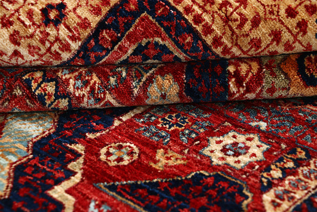 Dark Red Mamluk 3' 10 x 6' 2 - No. 66199 - Alrug Rug Store