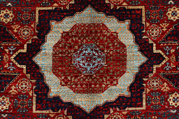 Dark Red Mamluk 3' 10 x 5' 11 - No. 66200 - Alrug Rug Store