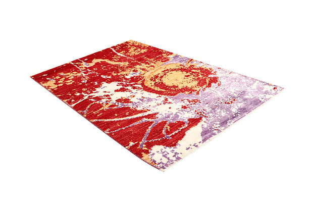 Multi Colored Abstract 4' 2 x 6' 4 - No. 66222 - ALRUG Rug Store