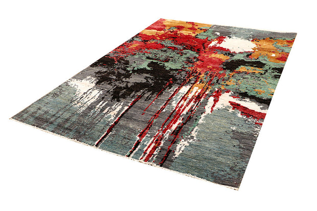 Multi Colored Abstract 5' 7 x 8' 1 - No. 66236 - ALRUG Rug Store